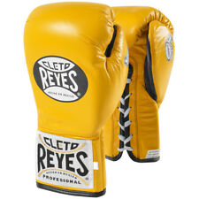 Cleto Reyes Safetec Professional Boxing Fight Gloves - Yellow