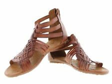 womens 234 gladiator style all real leather huarache sandal ankle strap brown