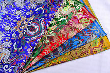 "1/2 YD 28"" TIBETAN TOP DAMASK JACQUARD BROCADE FABRIC: CHINESE DRAGON & BALL -"