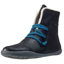 Camper Peu Cami Hi Womens Black Leather Casual Boots Lace-up Genuine Shoes