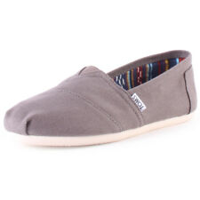 Toms Classic Mens Grey Canvas Casual Slip On Slip-on Genuine Shoes New Style