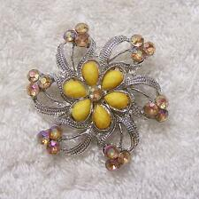 CLASSIC PIN BROOCH FLOWER PETAL LEAF BLOOMING FLORAL DAISY ROSE GARDEN FERN DS5