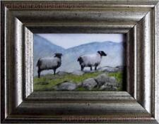 Irish SHEEP Original Watercolor painting MINIATURE Collection Pervaneh Matthews