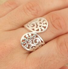 925 Sterling Filigree Silver Wrap Around Band Ring Jewellery