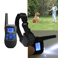 300 Yard Rechargeable LCD Electric Remote Dog Training Shock Collar 100 Levels