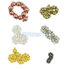 10 Sets Vintage Brass Magnetic Round Ball Clasps for Jewellery Making Findings