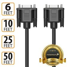 Fosmon 6 10 25 50 FT High Resolution HD VGA Male M/M Monitor Adapter Cable Plug