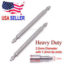 20mm 22mm Heavy Duty 2.0mm Spring Bar w/ 1.1mm Tip Ends for Seiko Citizen Diver