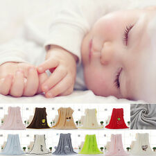 Baby Blanket Newborn Kids Swaddle Wrap Soft Child Bedding Blanket Coral Fleece