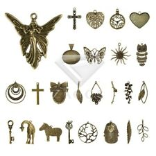 30 Style 2-35pcs Lots Antique Brass Metal Charm Pendants Supplies Jewelry Making