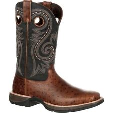 Rebel by Durango Men's Ostrich Embossed Pull-On Western Boot