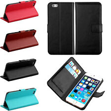 Flip Folio Credit Card PU Leather Wallet Stand Phone Case Cover For iPhone 6
