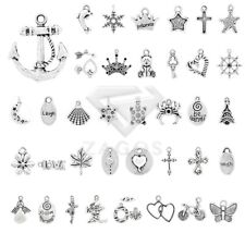 20-250pcs Tibetan Silver Spacer Metal Charm Pendant Jewelry Findings 40 Style
