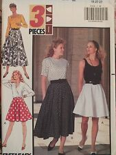 Easy VTG 91 BUTTERICK 5332 MIsses Flared Skirts PATTERN 6-8-10/18-20-22 UC