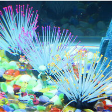 Artificial Silicone Glowing Sea Anemone Ornament Fish Tank Aquarium Plant Coral
