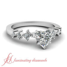 .70 Ct Heart Shaped Cut:Very Good Diamond Kite Design Engagement Ring FLAWLESS