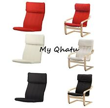Ikea Poang Chair Cushion and Cover, (Chair not included), Black, Red, Beige