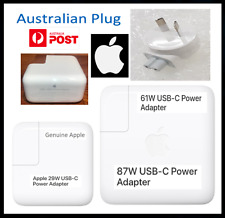 "Genuine Apple 29W 61W 87W USB-C Power Adapter Charger MacBook Pro 13"" 15"" Charge"