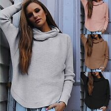 New Women Casual Long Sleeve Knitted Pullover Loose Sweater Jumper Tops Knitwear