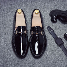 Fashion Mens slip on patent leather driving shoes loafer moccasin gommino