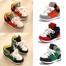 Kids Boys Girls Babys Lace Up Breathable Sneaker Trainers Sports Casual Shoes