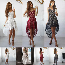 Summer Ladies Lace Sleeveless Dress Sling Sundress Party Wedding Beach Dress
