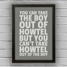HOWTEL - BOY/GIRL FRAMED WORD TEXT ART PICTURE POSTER Northumberland