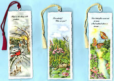 Bookmark Emily Dickinson Poem Hope I am nobady Two butterflies Toad Frog Gifts