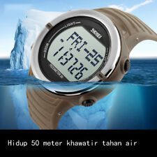 Sports Digital Watch with Pedometer Heart Rate Alarm Stopwatch Water Resistant