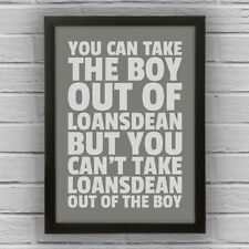 LOANSDEAN - BOY/GIRL FRAMED WORD TEXT ART PICTURE POSTER Northumberland