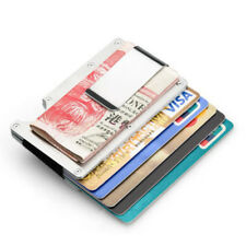 Credit Card Holder Business Name ID Card Clip Case Bag Stainless Steel Fashion