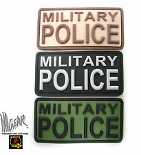 JTG MILITARY POLICE PVC 3D  HOOK & LOOP PATCH Rubber Tactical Survival  ill Gear