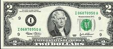 Spectacular Uncirculated Series 2003 A $2 Federal Reserve Note EE386