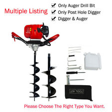 """2.2HP 52CC Gas Powered Post Hole Digger With 6""""+10"""" Earth Auger Digging Engine"""