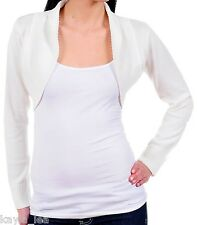 Ivory Cropped Bolero/Shrug/Cover-Up Cardigan Sweater  L