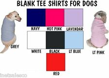 2 TEE SHIRTS  FOR DOGS BLANK     NEW
