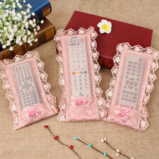 1Pc Lace Fabric TV Air Conditioner Remote Control Cover Dustproof Protection