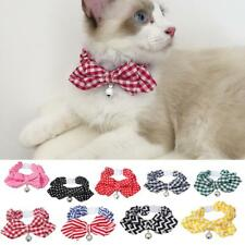 Pet Cat Kitten Noctilucence Small Bell Collar Leash with Bowknot Decor