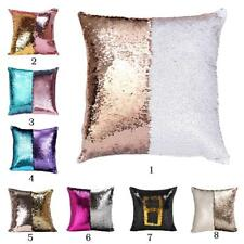 16'' Double Color Reversible Sequin Mermaid Glitter Cushion Covers Pillow Cases