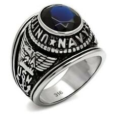 United State Military NAVY Stainless Steel Mens Ring SIZE 8-13 TK414707