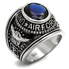United State Military Air Force Stainless Steel Mens Ring SIZE 8-13 TK414708
