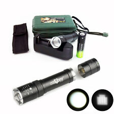 12000Lumen Zoomable XM-L T6 LED Tactical Powerful Flashlight+Battery+Charger