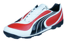 Puma V3.08 TT Mens Leather Astro Turf Soccer Shoes - Red