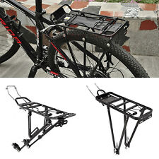 "Screw On Aluminium Bicycle Bike Rear Pannier Rack Carrier Fit for 24""/26""/28"""