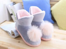 women plush home slippers warm boots soft thick flat cotton shoe indoor comfort