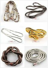 Creative Flexible Mixed Bendy Snake Chains Bracelet or Necklace Gift 90CM