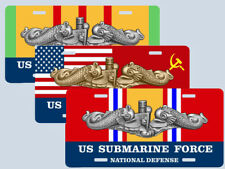 Service Ribbon Submarine Insignia License Plate Your Choice Cold War, Vietnam +
