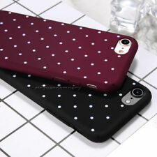 For Apple iPhone 7 8 X Plus 5 6S Polka Dot Pattern Hard PC Matte Slim Case Cover
