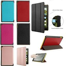 Auto Wake/Sleep PU Leather Magnetic Case Cover For Amazon Kindle New Fire 7/HD 8