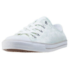 Converse Chuck Taylor All Star Dainty Womens Grey Canvas Casual Trainers Lace-up